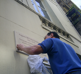 M. Charpin at work, May 2005