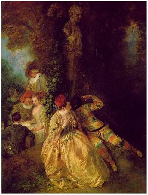 Arlecchino and Colombina, or Arlecchino the Seductor, Antoine Watteau, 1716-18