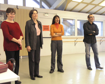 Edith Canat de Chizy and professors of the Conservatoire du 7�me arrondissement
